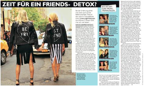 Zeit für einen Friends-Detox? GRAZIA #50 vom 03.12.2015